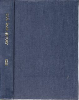 Image for Civil War History: A Journal of the Middle Period; Volume XXIII Numbers 1-4, March- December 1977