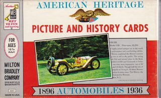 Image for American Heritage Picture and History Cards: 1896 Automobiles 1936