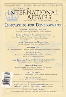 Image for Journal of International Affairs (Innovating for Development, Fall Winter 2010)