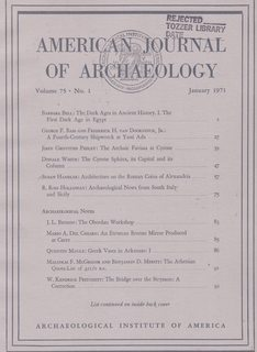 Image for American Journal of Archaeology: Volume 75, Number 1