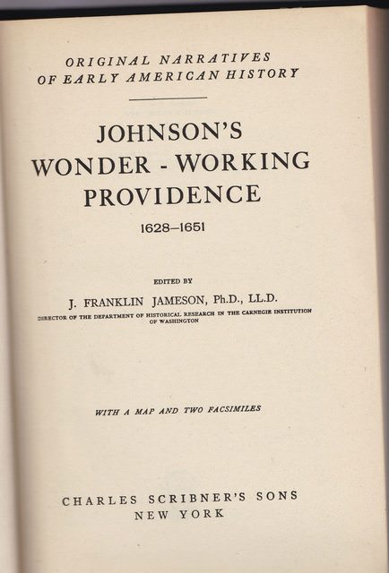 Image for Johnson's Wonder Working Providence 1628-1651