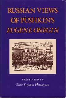 Image for Russian Views of Pushkin's Eugene Onegin (English and Russian Edition)