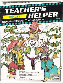 Image for Teacher's Helper: Reproducibles for Your Classroom: Grade 1. Nov/Dec/Jan., 1993-94. Vol.10 #4