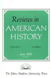 Image for Reviews in American History, Volume 31, No. 2, June 2003