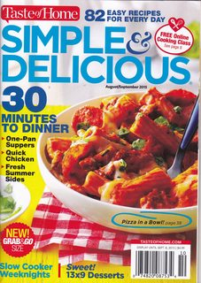 Image for Simple & Delicious (Taste of Home) August/September 2015 Vol 18 No. 5