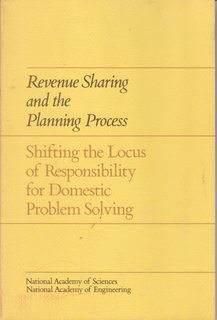 Image for Revenue sharing and the planning process: shifting the locus of responsibility for domestic problem solving;: Report