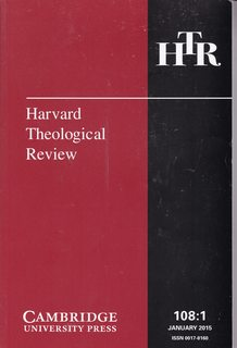 Image for Harvard Theological Review 108:1 Jan. 2015