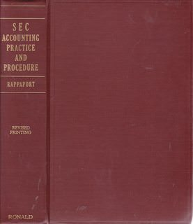 Image for SEC accounting practice and procedure