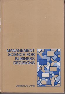 Image for Management science for business decisions
