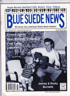 Image for Blue Suede News #39 Summer 1997 Johnny & Rocky Burnette Cover