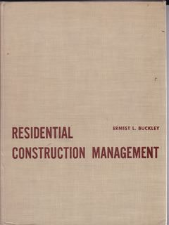 Image for Residential Construction Management