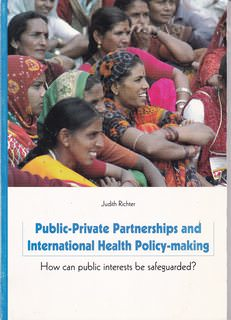 Image for PUBLIC-PRIVATE PARTNERSHIPS AND INTERNATIONAL HEALTH POLICY-MAKING