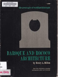 Image for Baroque and Rococco Architecture (Great Ages of the World Architecture) by Henry A. Million (1961-12-01)