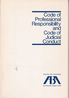 Image for Code Of Professional Responsibility And Code Of Judicial Conduct