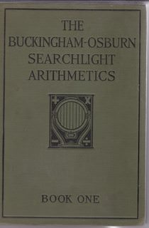 Image for The Buckingham-Osburn Searchlight Arithmetics Book One
