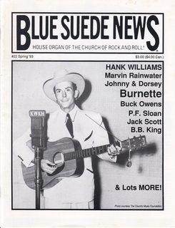 Image for Blue Suede News #22 Spring 1993 Hank Williams Cover