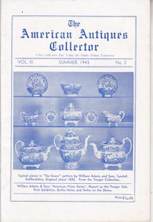 Image for The American Antiques Collector, Volume III, Number 2 (Summer 1943)