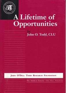 Image for A Lifetime of Opportunities