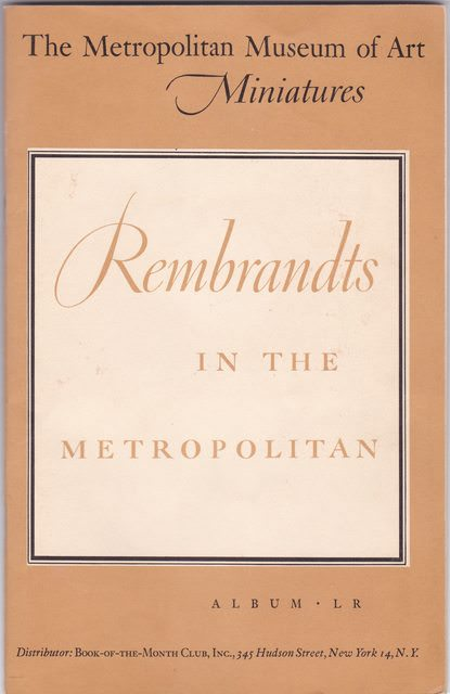 Image for Rembrandts in the Metropolitan - Album LR
