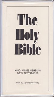 Image for The Holy Bible King James Version New Testament Read by Alexander Scourby (12 Audio Cassettes)