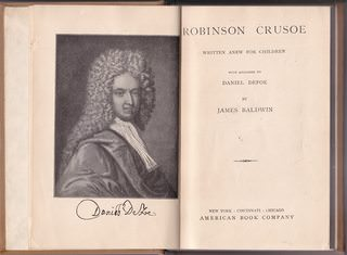 Image for Robinson Crusoe, written anew for Children with Apologies to Daniel Defoe