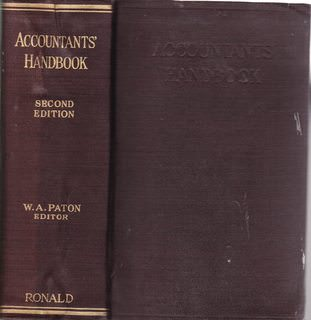 Image for Accountants' handbook 2nd Edition 1933 Edited by W.A. Paton, Ph.D., C.P.A. (Hard Cover)