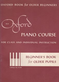 Image for Oxford Piano Course for Class and Individual Instruction: Beginner's Book for Older Pupils (Catalogue No. 93.908)
