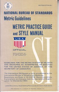 Image for Metric Practice Guide and Style Manual: National Bureau of Standards Metric Guidelines (AMJ Publication B2.1)
