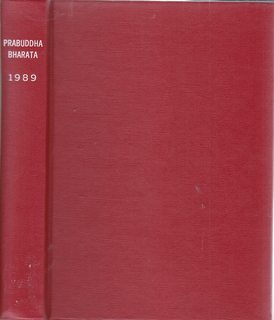 Image for PRABUDDHA BHARATA OR AWAKENED INDIA 1989 (Vol.94) 12 issues in one volume