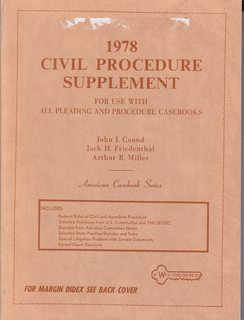 Image for 1978 Civil Procedure Supplement