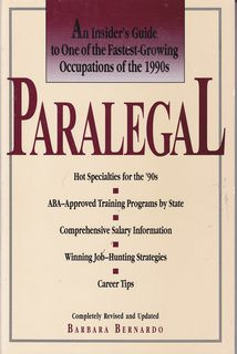 Image for Paralegal: An Insider's Guide to One of the Fastest-Growing Occupations of the 1990s