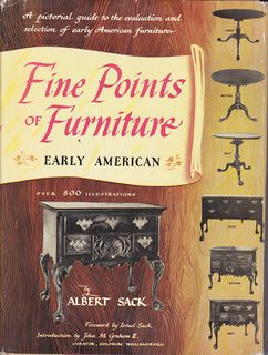 Image for Fine Points of Furniture: Early American- A Pictorial Guide to the Evaluation and Selection of Early American Furniture