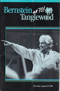 Image for Bernstein at 70 Tanglewood. Thursday, August 25, 1988