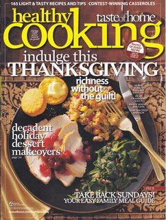 Image for Healthy Cooking Taste of Home Thanksgiving Oct/Nov 2010