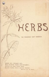 Image for Herbs (The Fragrance Shop Handbook)