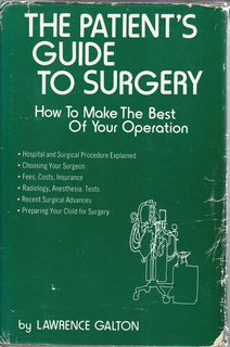 Image for The patient's guide to surgery: How to make the best of your operation