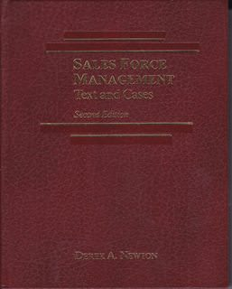 Image for Sales Force Management: Text and Cases, 2nd Edition