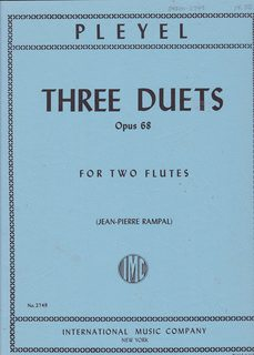 Image for Pleyel Three Duets Opus 68 for Two Flutes