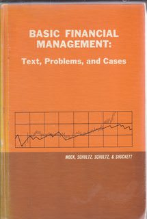 Image for Basic Financial Management: Text, Problems and Cases