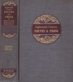 Image for Eighteenth Century Poetry and Prose. Second Edition.